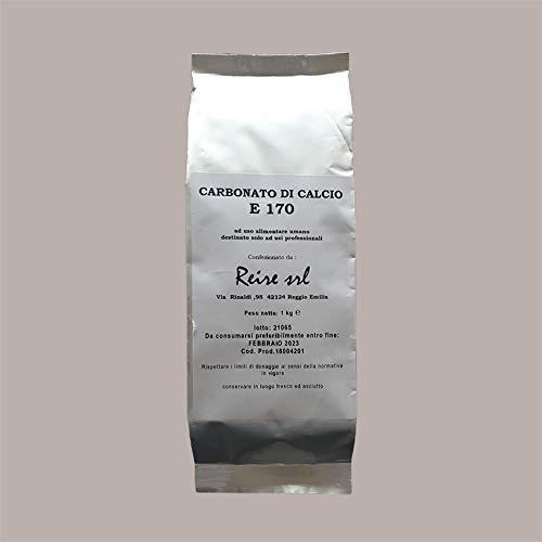 Lucgel Srl 1 Kg Carbonato de calcio E170 Aditivo alimentario Estabilizador Calcio Partidario