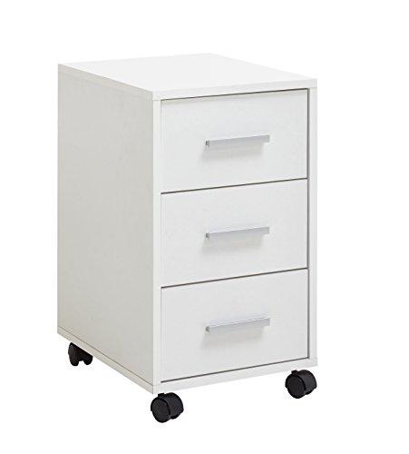 FMD möbel Brio B03 Cassettiera Ufficio, 33,6X42X57,5 H cm, Bianco, Nobilitato