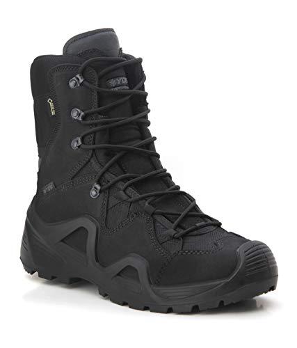YDS Astor GTX Zapatillas Militares, Gore-Tex, Zapatillas de Exterior e Informales, Transpirables, Suela de Caucho, Cómodo, Nubuck,, Negro (Negro ), 43 EU