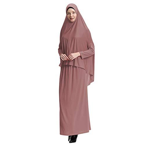Yudesun Vestido de Mujer Musulmana - Traje Abaya Completo Longitud Hijab Toga...