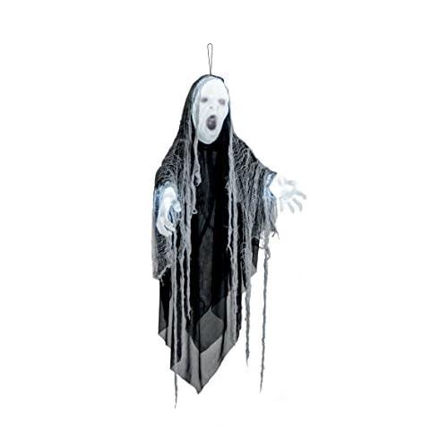Boland- Decorazione Stregone Lightning Wizard con Luci e Suono, Nero/Grigio, 110 cm, 73012