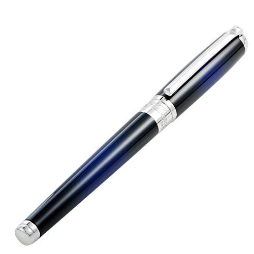Pluma Estilográfica S.T. Dupont Line D Medium Sunburst Atelier, Azul
