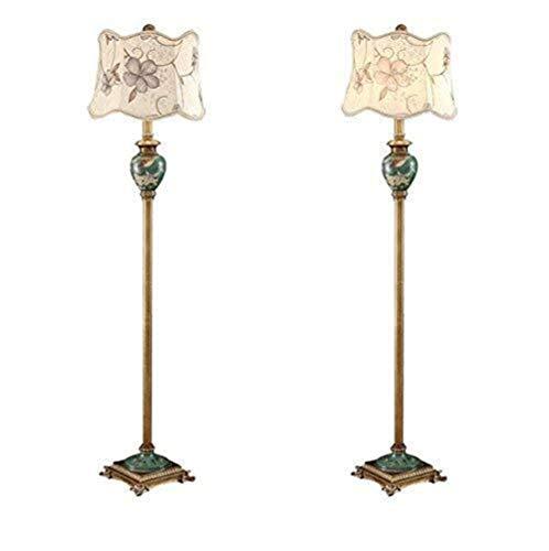 CLJ-LJ Lámpara de pie LED creativa American Country Pastoral, acogedora para salón, dormitorio, estilo chino retro, vertical, luz de suelo vertical