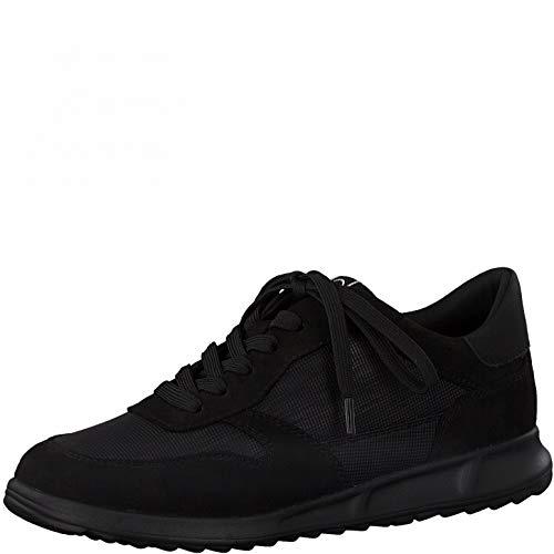 Tamaris Damen Low-Top Sneaker, Frauen Halbschuhe,lose Einlage,Lady,Ladies,Women's,Woman,schnürschuhe,schnürer,Halbschuhe,Black Comb,40 EU / 6.5 UK