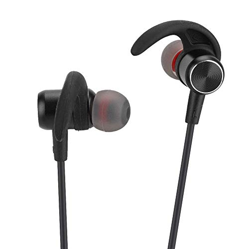 ASHATA Bluetooth-koptelefoon, magnetische Bluetooth-oortelefoons Sportieve draadloze koptelefoon met zweetbestendige oordopjes Voor mobiele telefoons, laptops, tablets, enz.