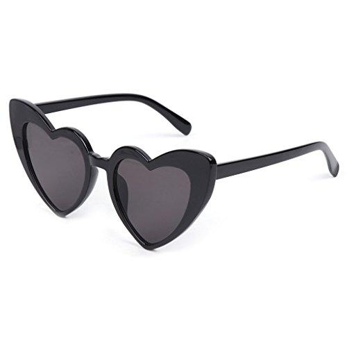 BELTI Gafas de Sol de Ojo de Gato Mujer Lady Love Diseñador de Marca de Moda en Forma de corazón Vintage