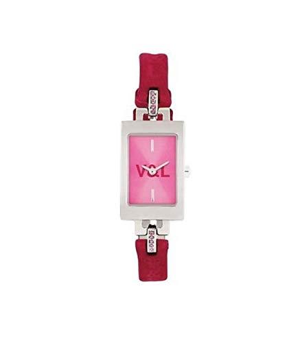 V&L Reloj analogico para Mujer de Cuarzo con Correa en Piel VL006602