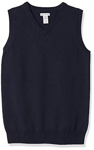 Amazon Essentials Kids Boys Uniform Cotton V-Neck Sweater Vests,...