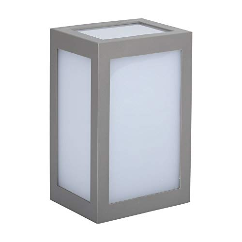 Lámpara aplique LED 12 W, Wall Light Cube gris blanco natural 4000 K