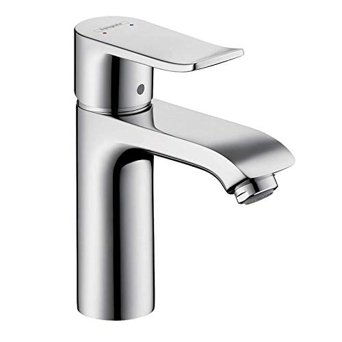 hansgrohe Metris Modern Upgrade Easy Install 1-Handle 1 7-inch Tall Bathroom Sink Faucet in Chrome, 31080001,Small