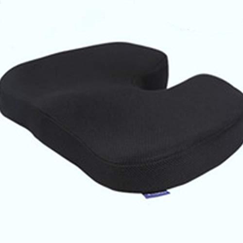LAQ Bürokissen U-Typ Sitzwascher schwangere Frauen entlasten Schwanz Wirbelsebra Nerv Dekompression Lendenwirbelschutz schwarz