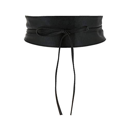 FASHIONGEN - Cinturón obi cuero artificial Mica - Negro, L-XL