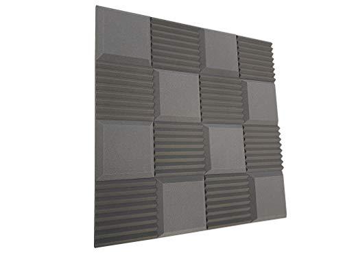 Advanced Acoustics, piastrelle in schiuma per insonorizzazione acustica, coefficiente di insonorizzazione 0,60 NRC, 16 piastrella da 30,5 cm (1,48 m2)