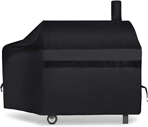 NEXCOVER Upgraded Offset Smoker Cover, 60 Inch Waterproof Charcoal Pellet Grill Smoker Cover, 600D Heavy Duty Gas Grill Cover, Rip Resistant Barbecue Cover for Brinkmann Char-Broil Weber Nexgrill