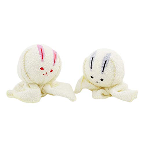 LJSLYJ Mini serviette de voyage compressée avec des animaux mignons, Couple serviette, Cadeau de la Saint-Valentin, Style de lapin