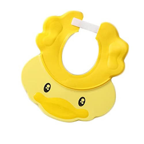 AOTEMAN Gorro de champú para niños ajustable para baby shower cap Shampoo protección para los oídos Protección de los ojos Gorra impermeable de silicona para baby shower Mask Sun Visor (amarillo)