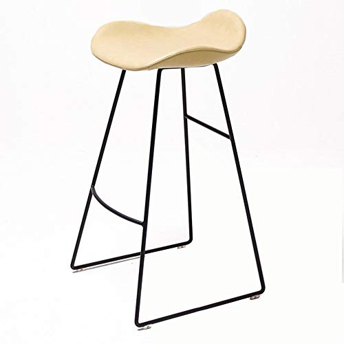WHOJA Bar Stool Modern simplicity Kitchen chair metal frame High stool Bar furniture Bearing weight 150kg Height 65/75cm Bar Stools Chairs Set (Color : Yellow, Size : 65cm)
