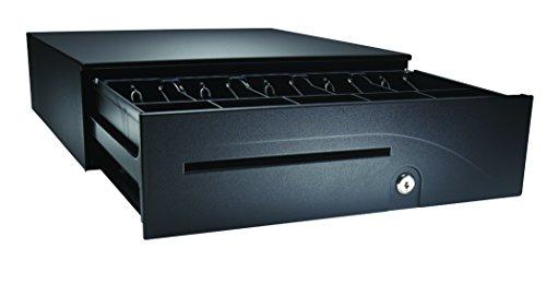 APG T320-BL1616-U6 Heavy-Duty Adjustable Cash Drawer with MultiPRO 320 Interface, 24V, 16' x 4.9' x 16.8', Black