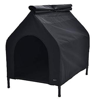 AmazonBasics Niche mobile surélevée pour animal domestique, Noir, TailleM