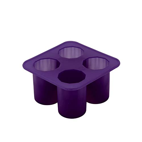 Bravetoshop Ice Molds Cylindrical Shape Ice Cube Maker Ice Tray Ice Cube Mold Storage Containers(Purple)