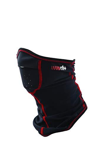 rh+ Iax9171 930, Zero Shaped Neckwarmer Unisex Adulto, Black/Red, Taglia Unica