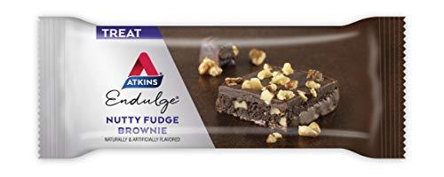 Atkins Endulge Treat, Nutty Fudge Brownie Bar, Keto Friendly, 5 Count