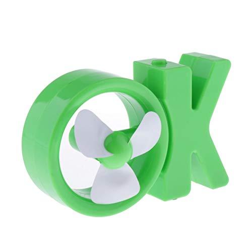 PETSOLA Mini OK-Form USB Tischventilator Schreibtisch Ventilator Lüfter Fan für Schlafzimmer Arbeitszimmer Büro Reise - Grün