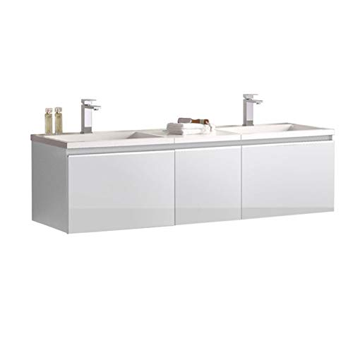 STONEART Badmöbel Milano ME-1600 weiß/160x45