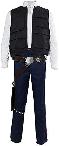 Han Solo Cosplay Kostüm Shirt Uniform Anzug mit Gürtel Set