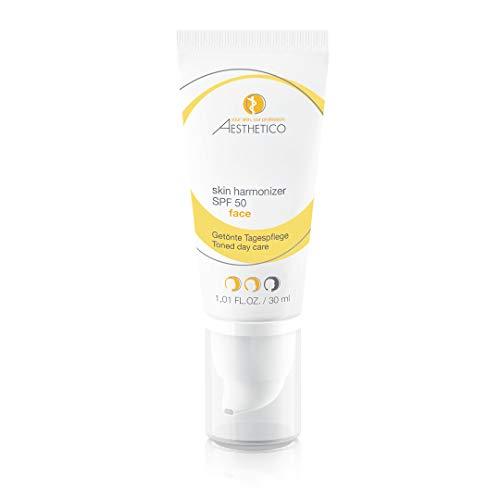 AESTHETICO skin harmonizer SPF 50 - Getönte Tagescreme mit hohem Lichtschutzfaktor, kaschiert Rötungen, für unreine Haut, 30 ml