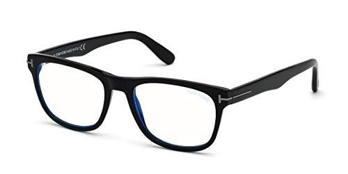 Eyeglasses Tom Ford FT 5662 -B 001 Shiny Black/Blue Block Lenses