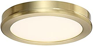 WAC Lighting FM-4606-27-BR Geos Round Low-Profile Flush Mount LED Fixture, Brass