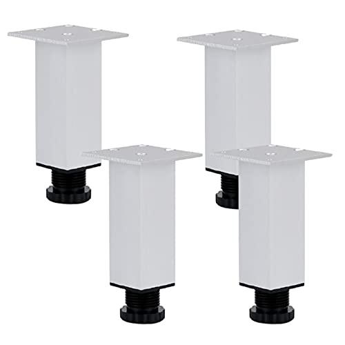 4 Piezas Pies para Muebles AleaciÓN Aluminio,Patas para Sofas,Altura Ajustable de 0 A 10 Mm,Patas para Muebles de Metal,para Mesa,escritorio de TV,con Tornillo (10cm/4in)