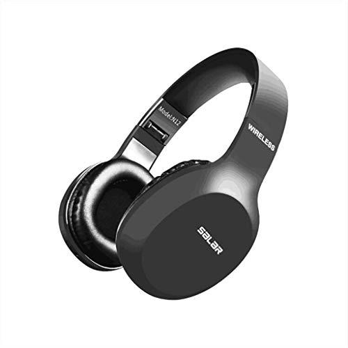 Alikeey draadloze koptelefoon Salar N12 stereo subwoofer opvouwbare draadloze Bluetooth headset spel met microfoon oortelefoon voor iPhone, iPad, Samsung, Huawei, xiaomi en meer
