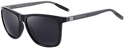 MERRY S8286 Anteojos de sol oscuros, de aluminio, unisex. Anteojos de sol vintage, para hombre o mujer., Gratis
