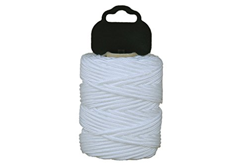 Cofan 08101010 Hilo de albañil trenzado en poliamida, Blanco, 1 mm x...