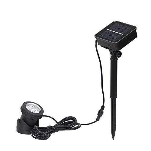 SMINNG Foco Solar de 6 LED,iluminación de Patio a Prueba de Agua, Luces de Seguridad fáciles de Instalar,Lámpara Solar para Césped para Patio (luz cálida,luz Blanca,luz de Siete)