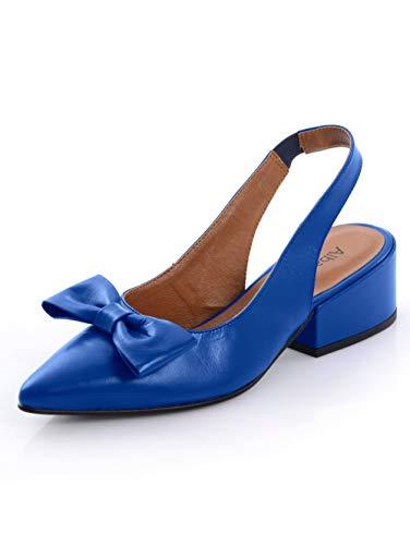 Alba Moda Slingpumps aus hochwertigem Ziegenleder Royalblau