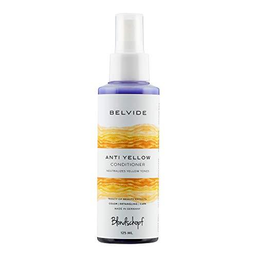 BLONDSCHOPF ANTI-YELLOW SPRÜHKUR 125ml | Neutralisiert unerwünschte Gelbtöne | Purple Conditioner Spray - keine lila Hände wie bei Silber