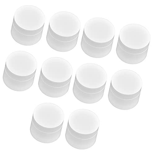 10 pièces de récipient de crème ronde de 5 g, pot d'onguent de lotion de doublure et de capsulage pour le voyage pour le cosmétique