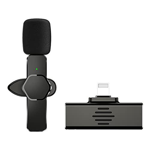 Microfono wireless Lavalier per Iproduct Android, Plug & Play Bavero Clip-on Mini MIC per YouTube Facebook Live Stream Tiktok Vlog zoom Registrazione video - Riduzione del rumore