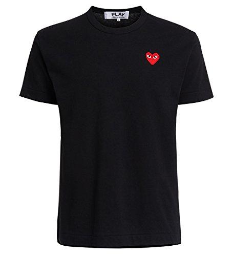 T-Shirt NERA Cuore Rosso - XXL