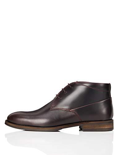 find. Herren Chukka Klassische Stiefel, Rot (Burgundy), 44 EU