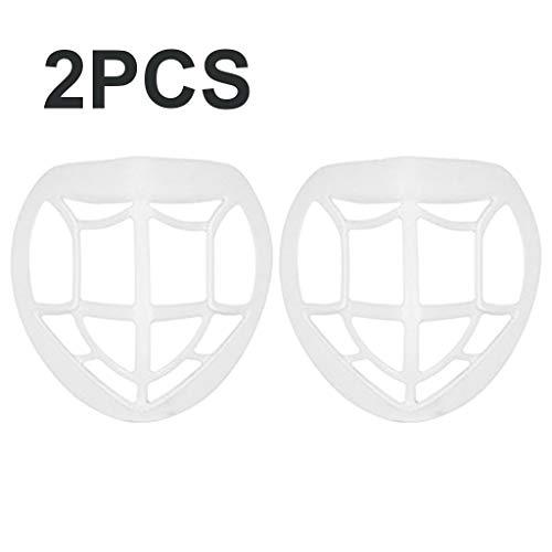 TriLance Schiffe aus Deutschland, 2/4/6/7/9/15/20/30/50 pcs 3D Gesichts Masken Halterung, Kühles Sicheres Silikonmaterial, Waschbar Gesichtsschutz Halter, Antihaft Lippenstift (2PC)