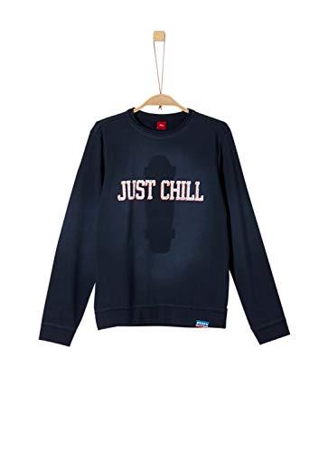 s.Oliver Jungen 61.908.41.2774 Sweatshirt, Blau (Dark Blue 5952), (Herstellergröße:XL/REG)