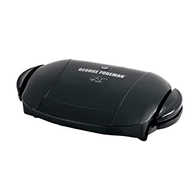 George Foreman 5-Serving Removable Plate & Panini Grill - Black