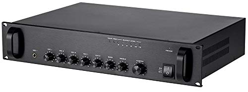 Monoprice Commercial Audio 120W 5ch 100/70V Mixer Amp with Microphone Priority (NO LOGO)