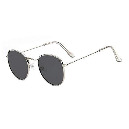ZZOW Gafas De Sol Redondas Retro para Mujer, Lentes Transparentes para El Océano, Gafas Reflectantes con Espejo Colorido, Gafas De Sol De Tendencia para Mujer, Gafas Uv400