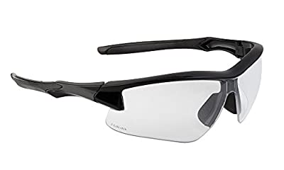 Howard Leight by Honeywell Uvex Acadia Shooting Glasses with Uvextreme Plus Anti-Fog Lens Coating, Clear Lens (R-02214)