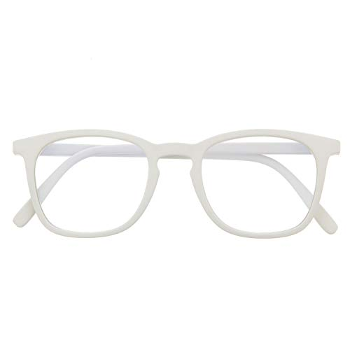 Gafas de Presbicia con Filtro Anti Luz Azul para Ordenador. Gafas Graduadas de Lectura para Hombre y Mujer con Cristales Anti-reflejantes. Ash +3.0 – TATE